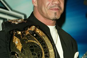 NEW YORK - MARCH 11: Wrestler Eddie Guerrero attends a press conference to promote Wrestlemania XX at Planet Hollywood March 11, 2004 in New York City.