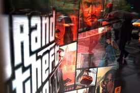 Grand Theft Auto window advertisement