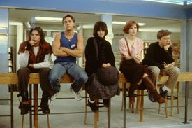 The five principal actors in the 1985 film 'The Breakfast Club'