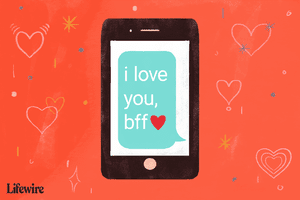 An illustration of the term 'bff' being used on a smartphone.