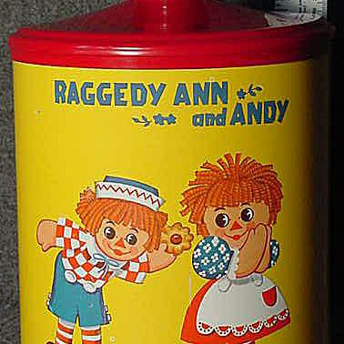Chein Raggedy Ann Tin Canister