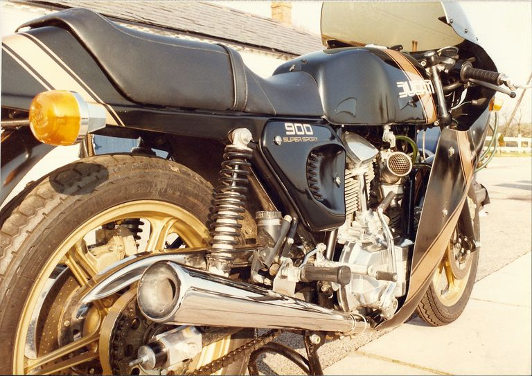 side of a motorcycle