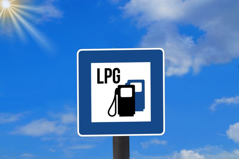 LPG sign against sky