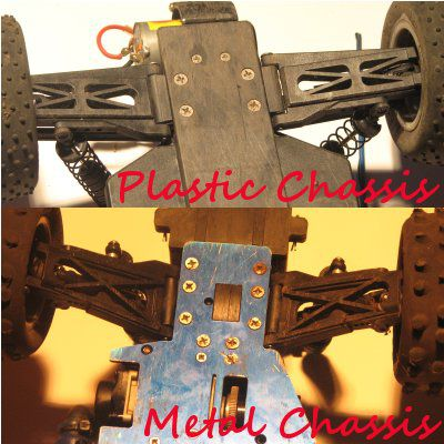 Plastic and metal RC chassis