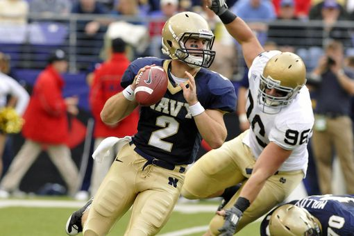 Navy quarterback during Notre Dame Game