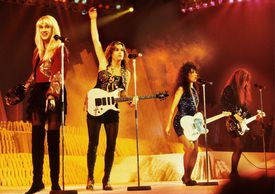 The Bangles (l-r Debbi Peterson, Vicki Peterson, Susanna Hoffs and Michael Steele) perform live in in Antwerp, Belgium in1988.
