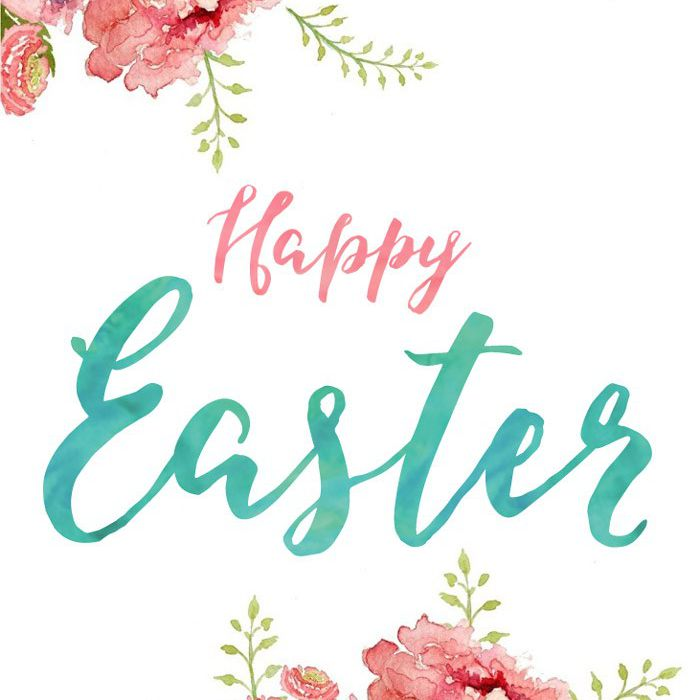 A floral Easter card