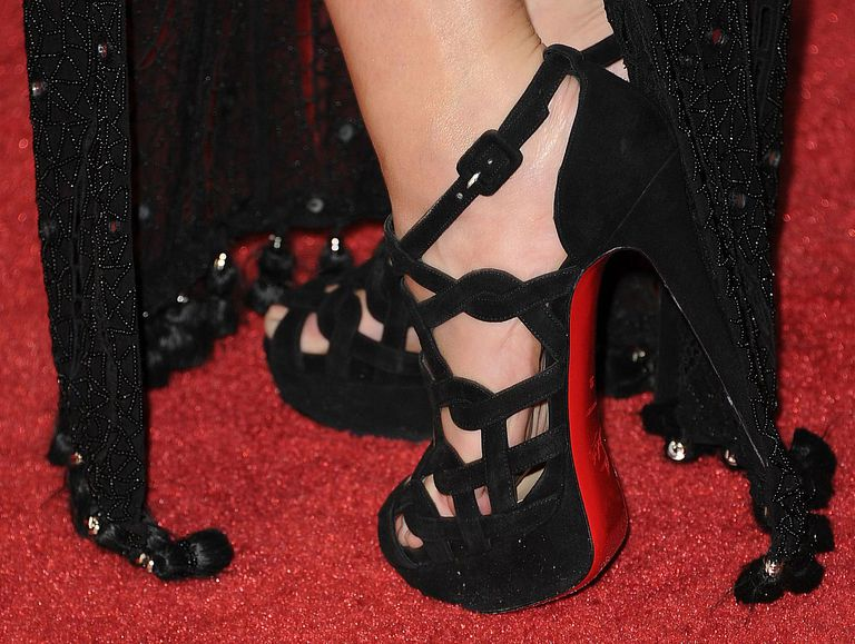 Actress Teresa Palmer in Christian Louboutin shoes at the premiere of I Am Number Four.