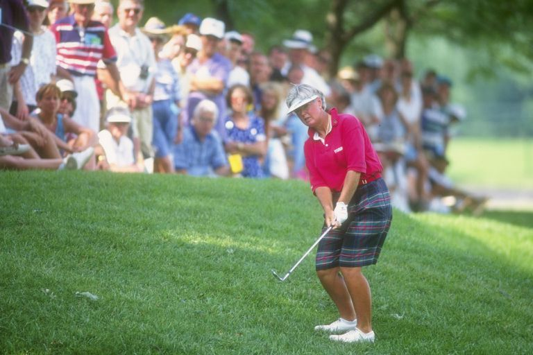 Pat Bradley hits the ball during the U.S. Women''s Open in Crooked Stick, Indiana.