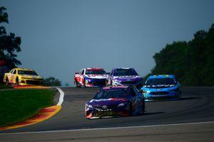 NASCAR stock cars racing at Watkins Glen road course
