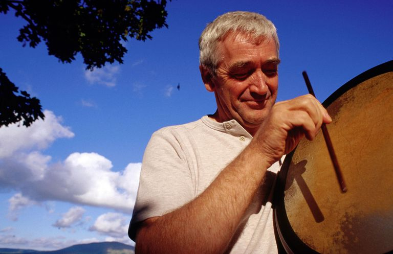 A traditional Celtic Drum, Bodhran maker and musician
