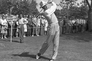 Sam Snead pictured during the 1942 PGA Championship.