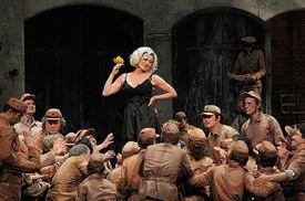 A woman performing Carmen