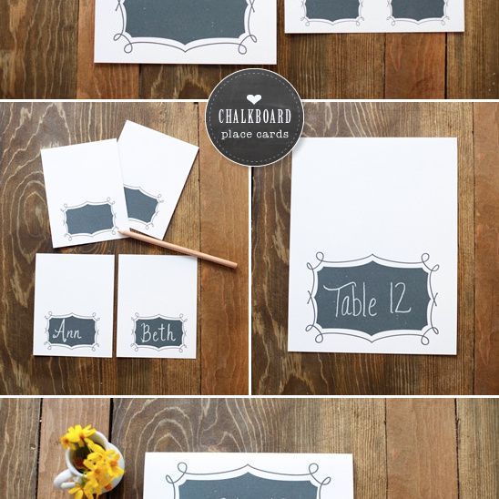 Creating chalkboard style wedding place cards.
