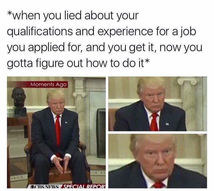 Lying - Trump meme