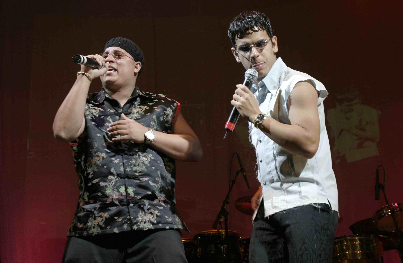 Hector y Tito during Billboard Latin Music Bash Concert at Billboard Live in Miami Beach, Fl, United States.