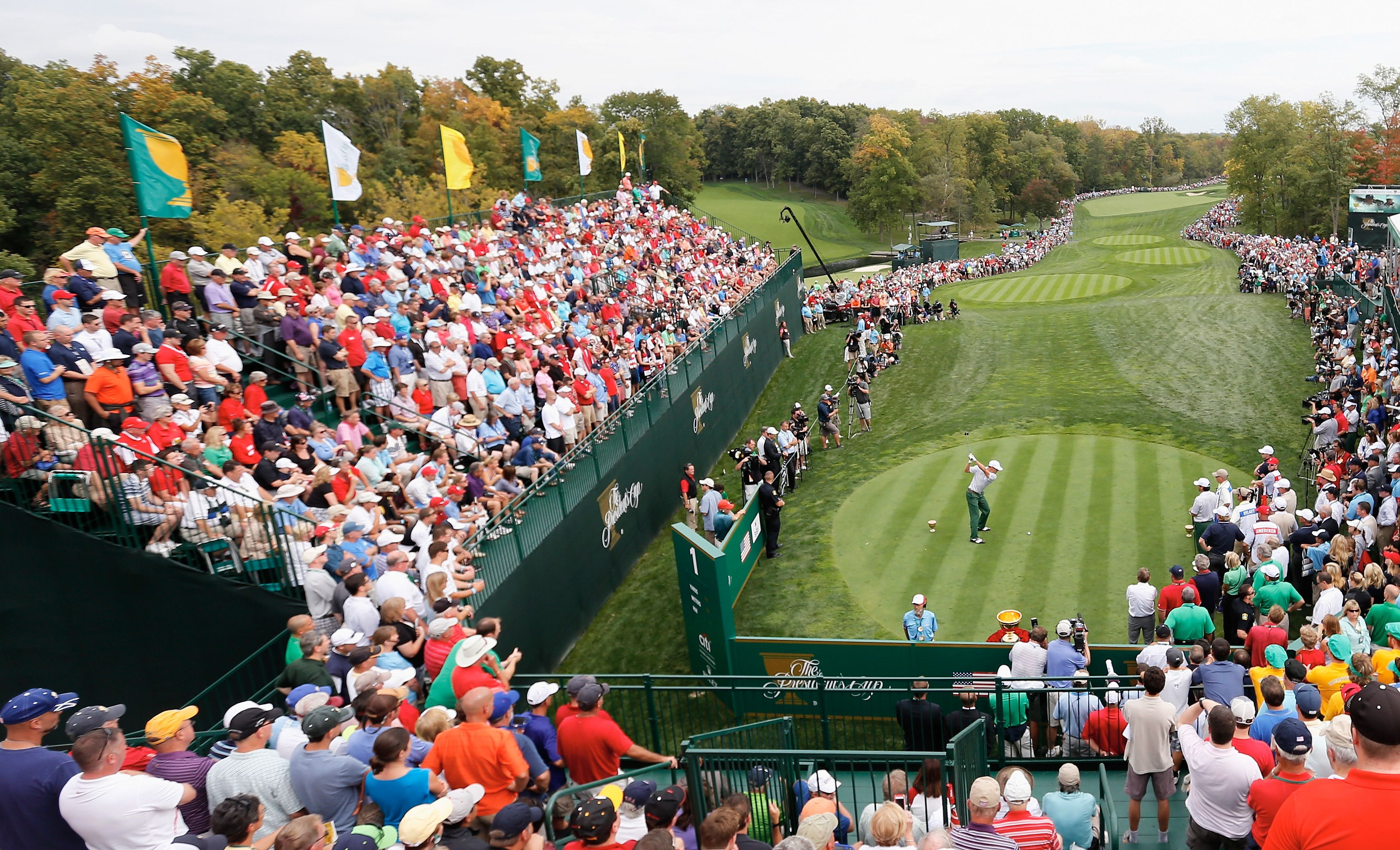 A scene from Muirfield Village during the 2013 Presidents Cup
