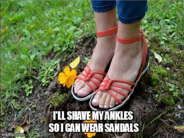 shave ankles for sandals