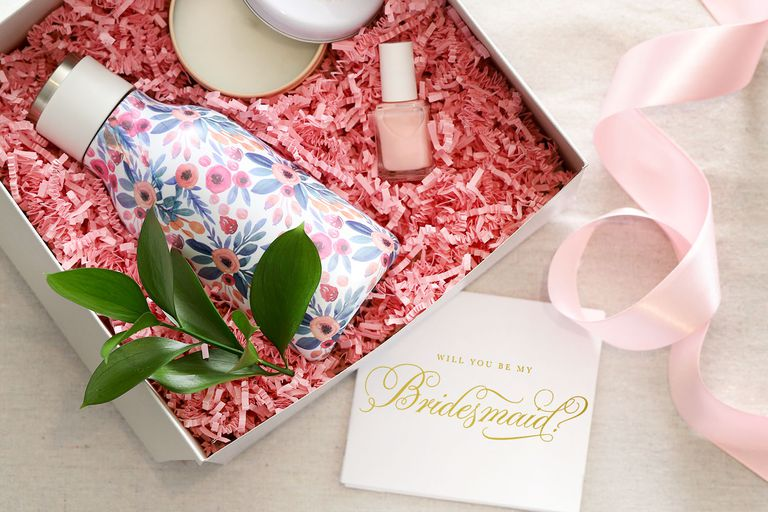 bridesmaid card and gift package