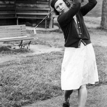 Golfer Betty Jameson in San Antonio, Texas, in the 1940s.