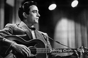 American rock and country singer-songwriter Johnny Cash, circa 1965.