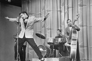 Elvis Presley Performing On Stage