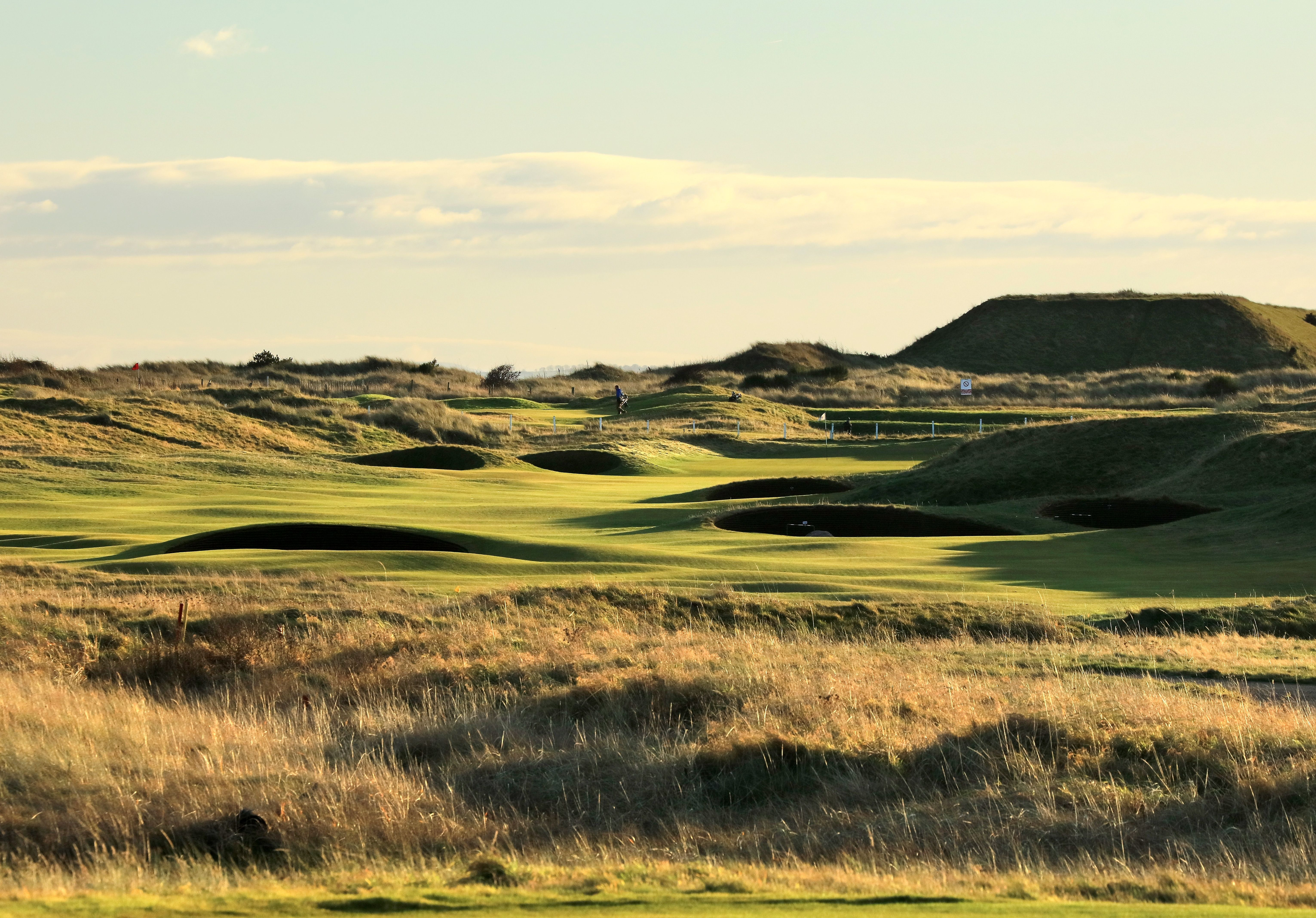 The par-4 second hole, named Gulley, on the Championship Links at Carnoustie Golf Links