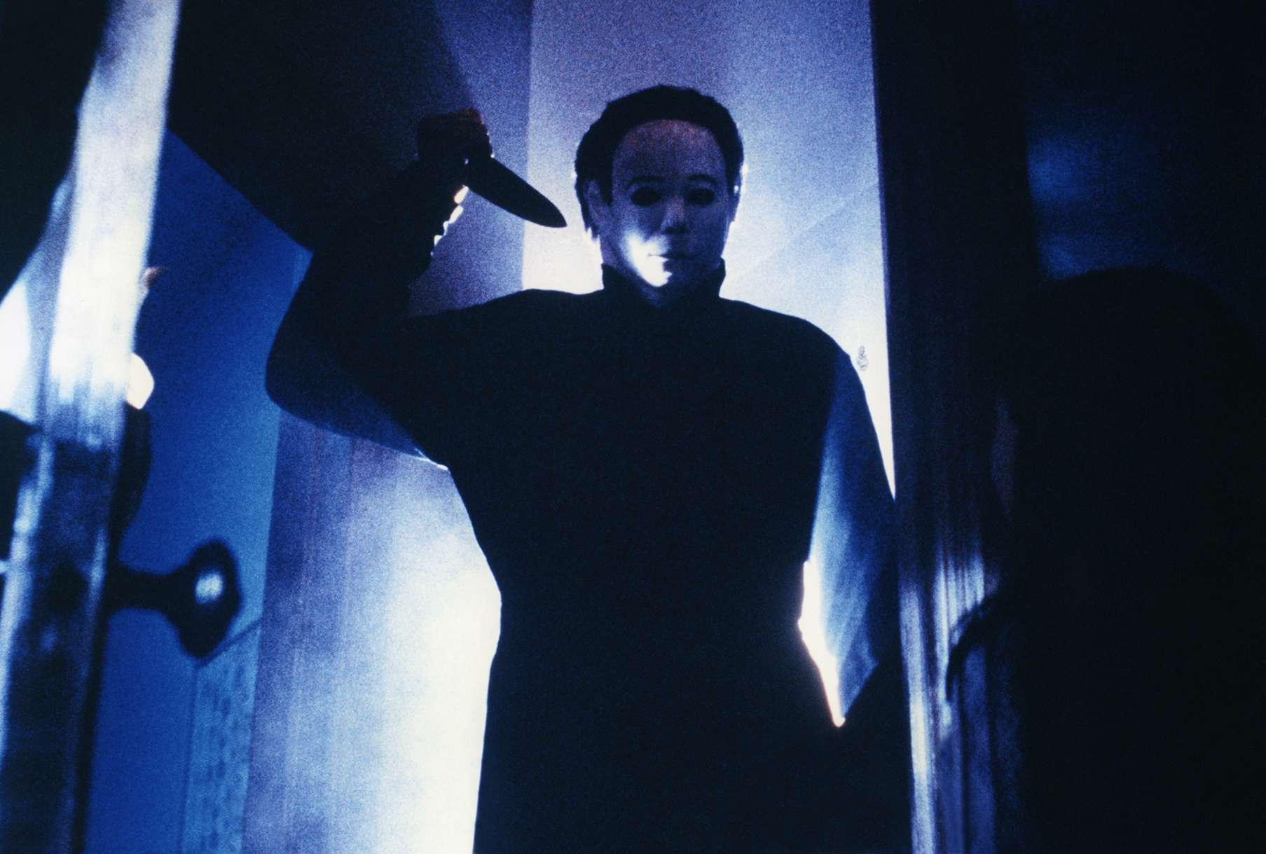 Actor Tony Moran on the set of Halloween