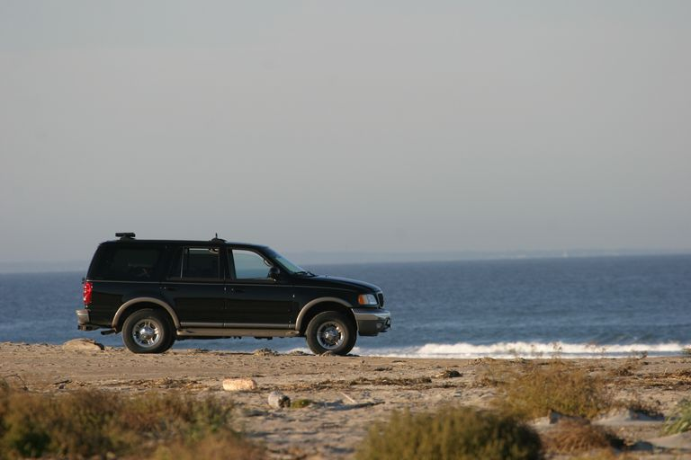 SUV on Beach