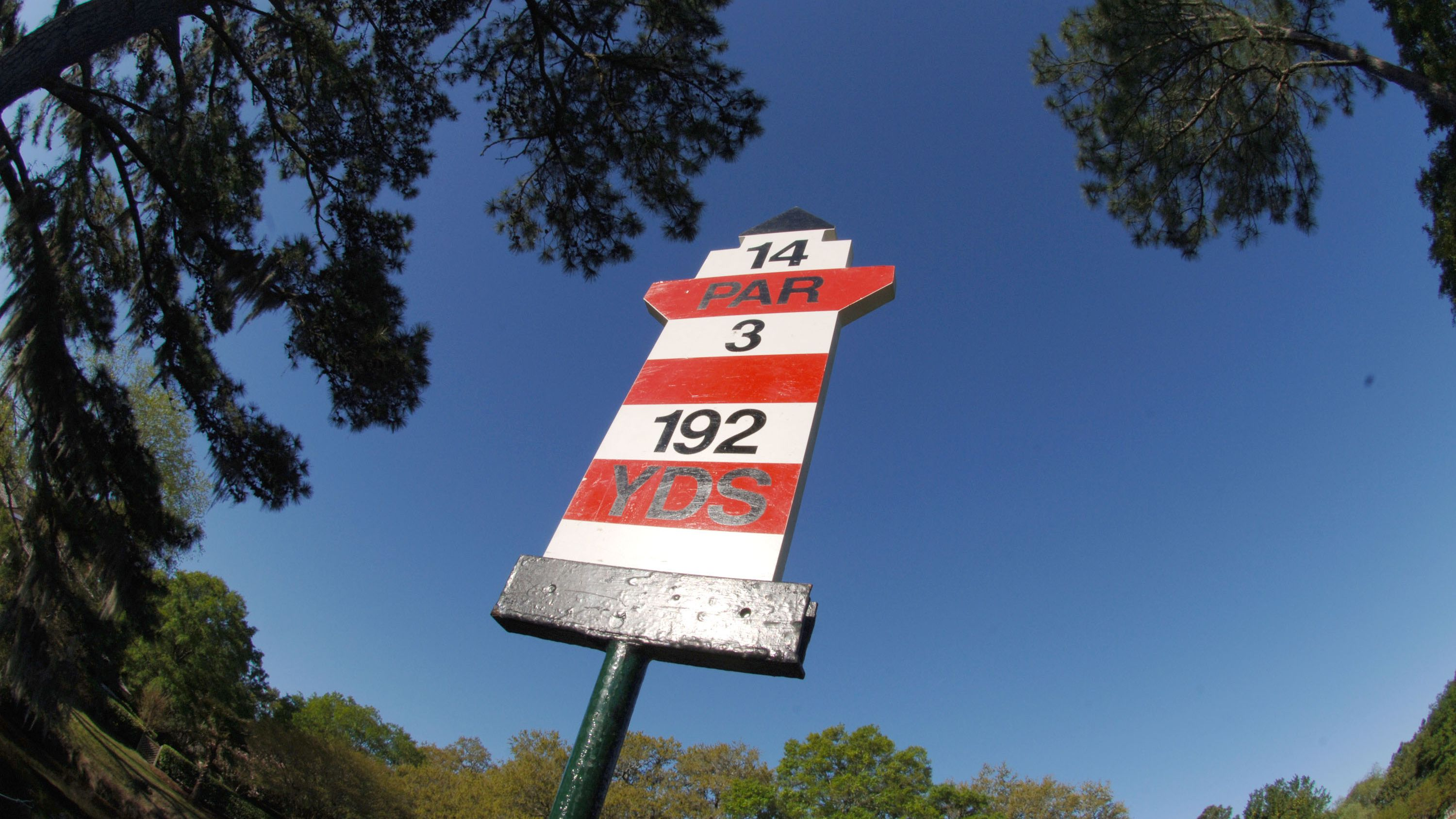 Golf Yardage Markers Give Distance To Center Of Green