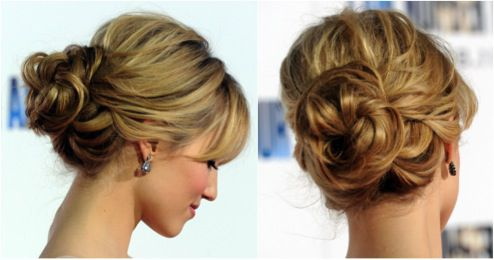 Messy Prom Updos: Dianna Agron