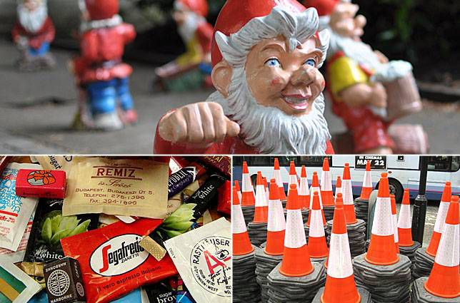 Garden gnomes, traffic cones and sugar packets are just a smattering of the surprising collections.