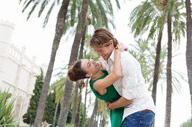 Tourist Couple Dancing