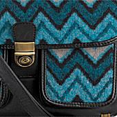 bag, handbag, chevron print, fashion prints, accessory trends, purse