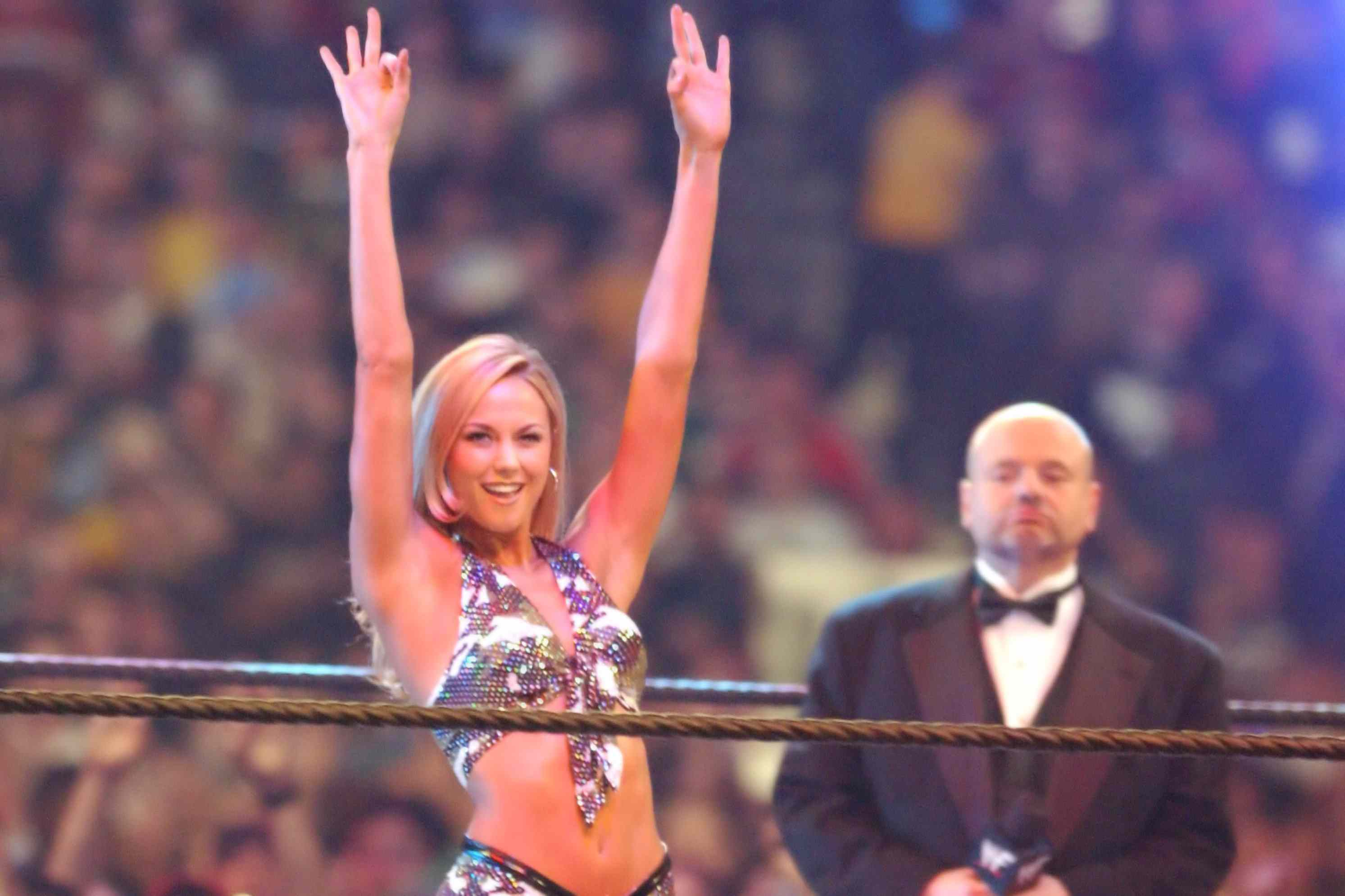 Stacy Keibler at Wrestlemania X8