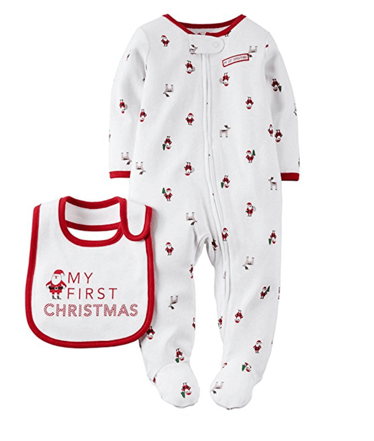 "Carter s Baby My First Christmas Sleep and Play Set with Bib Unisex. Amazon. com. "" 1abf65073"