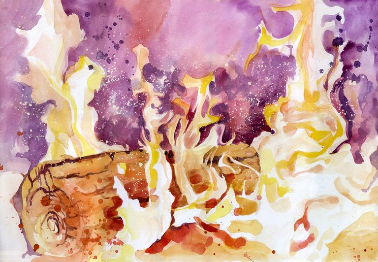 Fire Watercolor