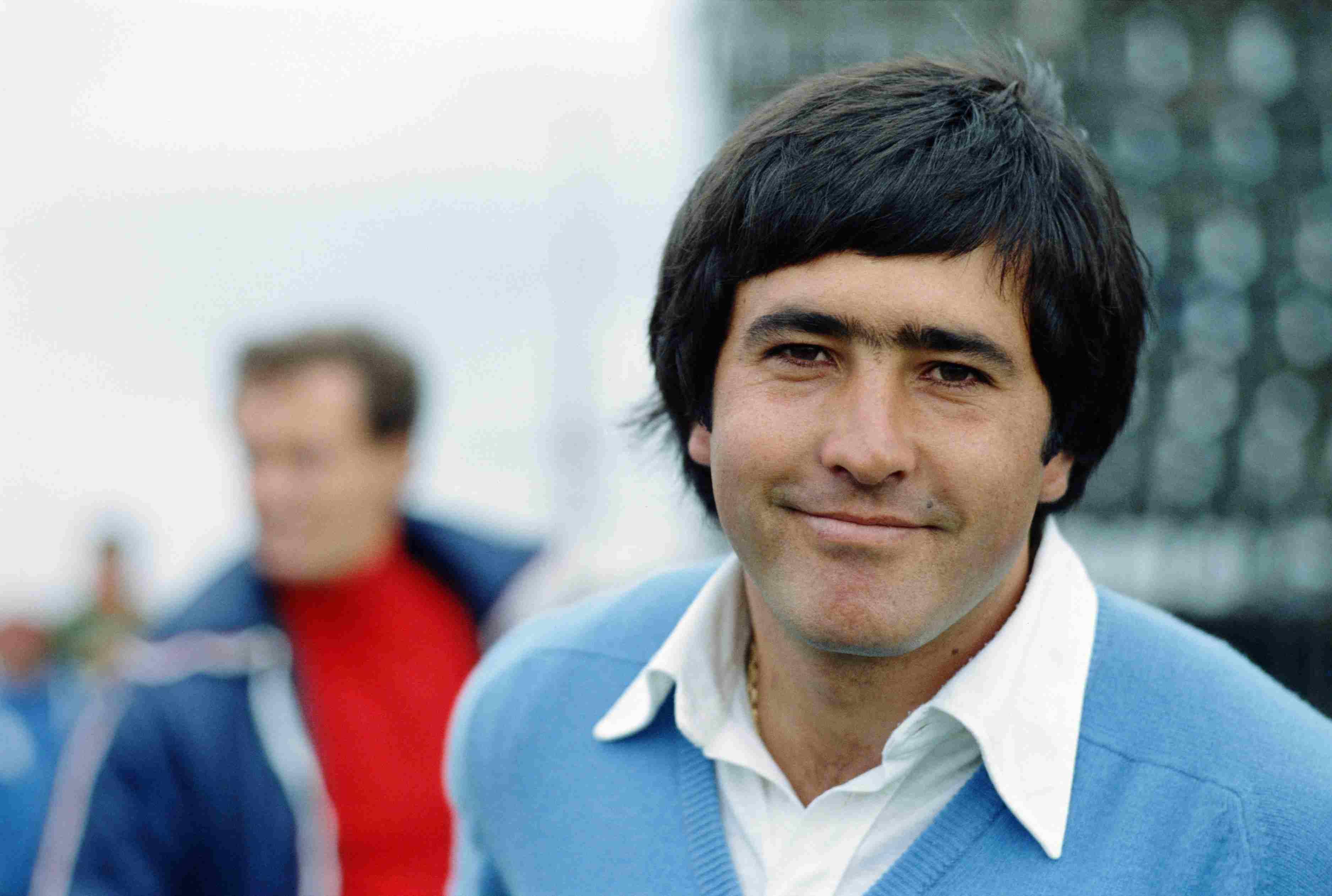 Golfer Seve Ballesteros pictured in 1977.