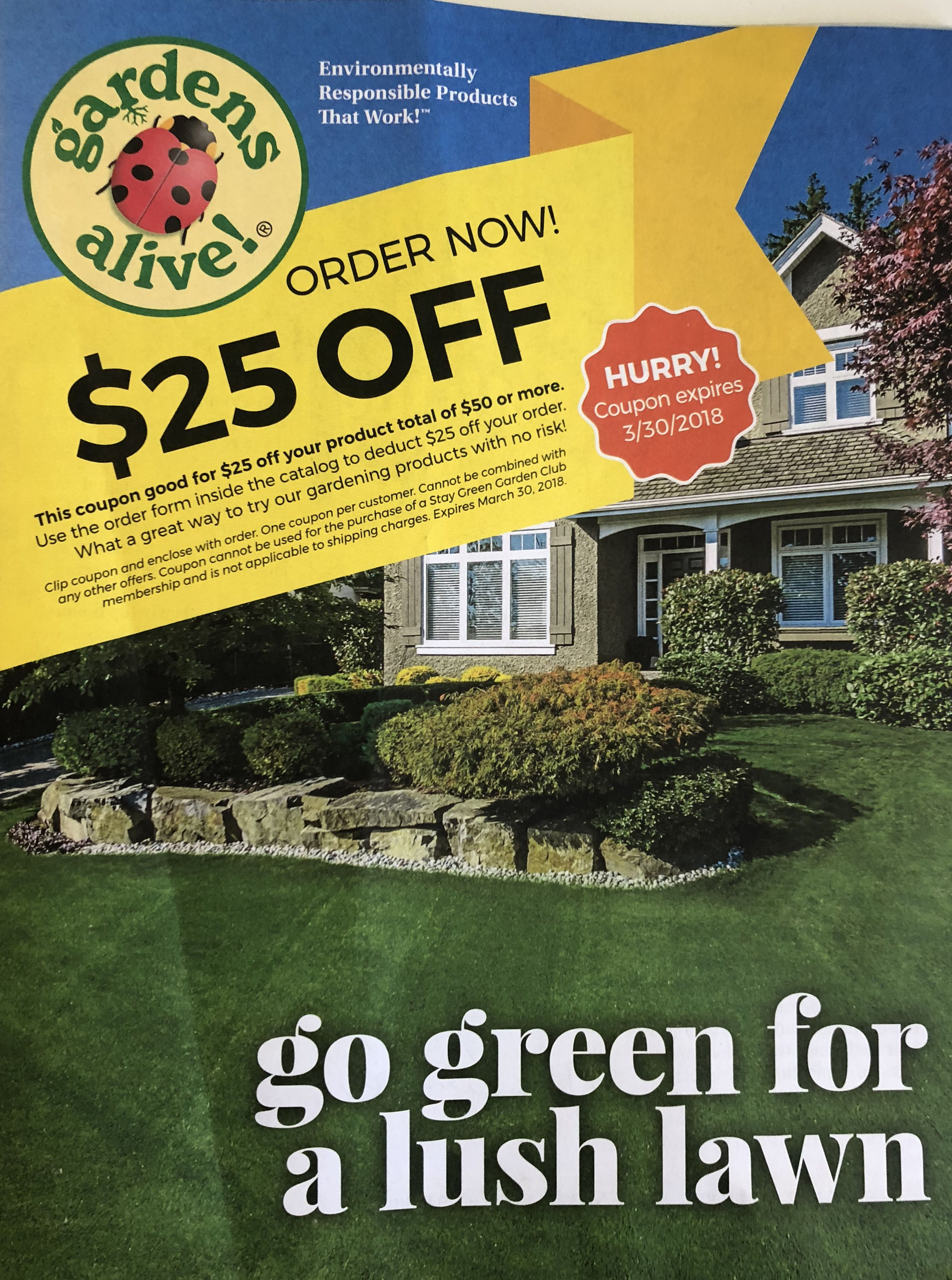 The catalog for 2018 from Garden's Alive!