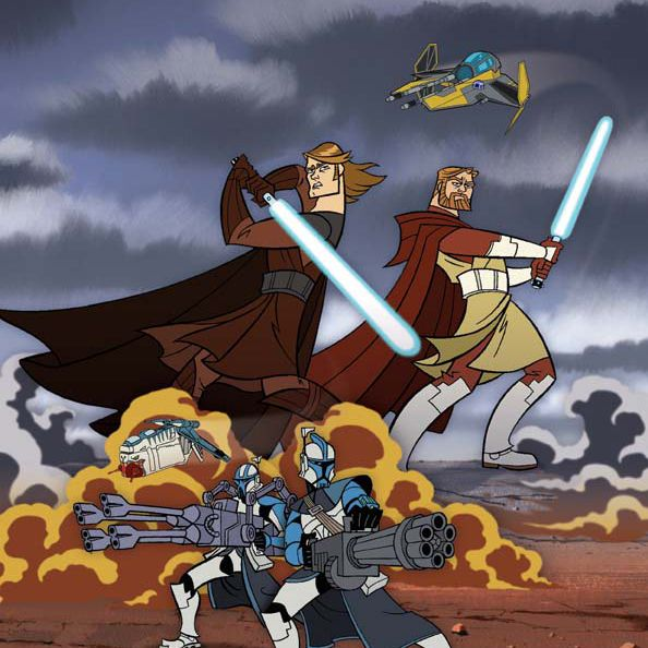'Clone Wars' Anakin and Obi Wan