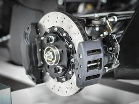 Supercar brake detail, close up