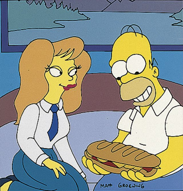 Mindy Simmons and Homer Simpson - The Last Temptation of Homer