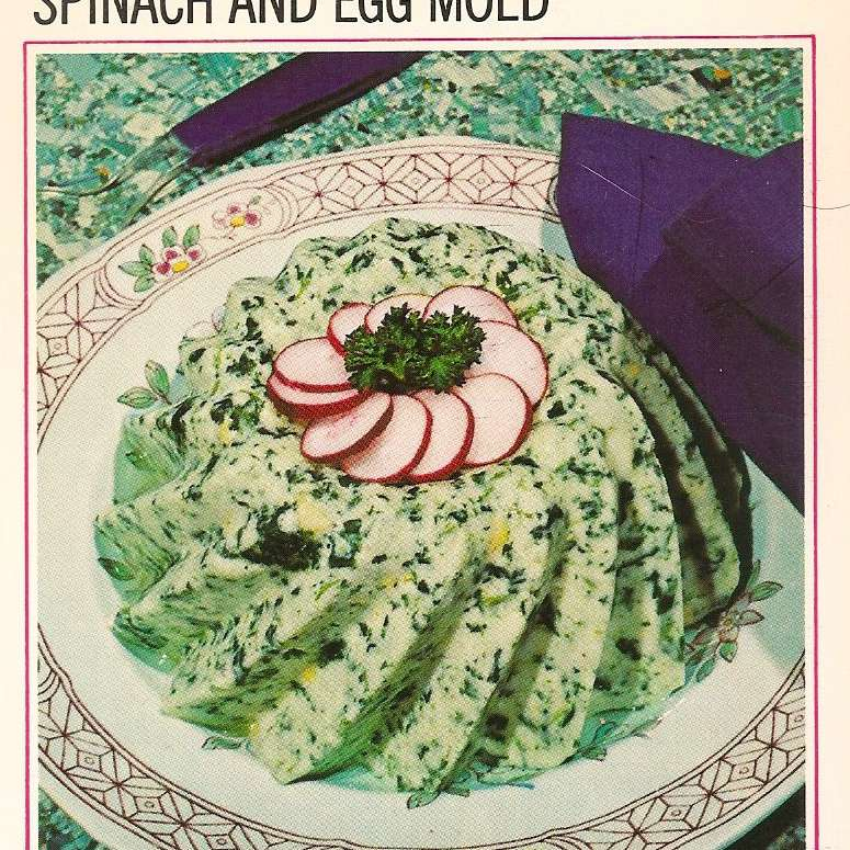 Spinach and Egg Mold
