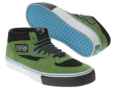 a1043f37624a Put the fake ollie behind you in these powerful Half Cab Pro skate shoes  from Vans. Suede upper in a technical mid top skate shoe style with a round  toe.