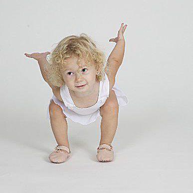 Toddler ballet jump