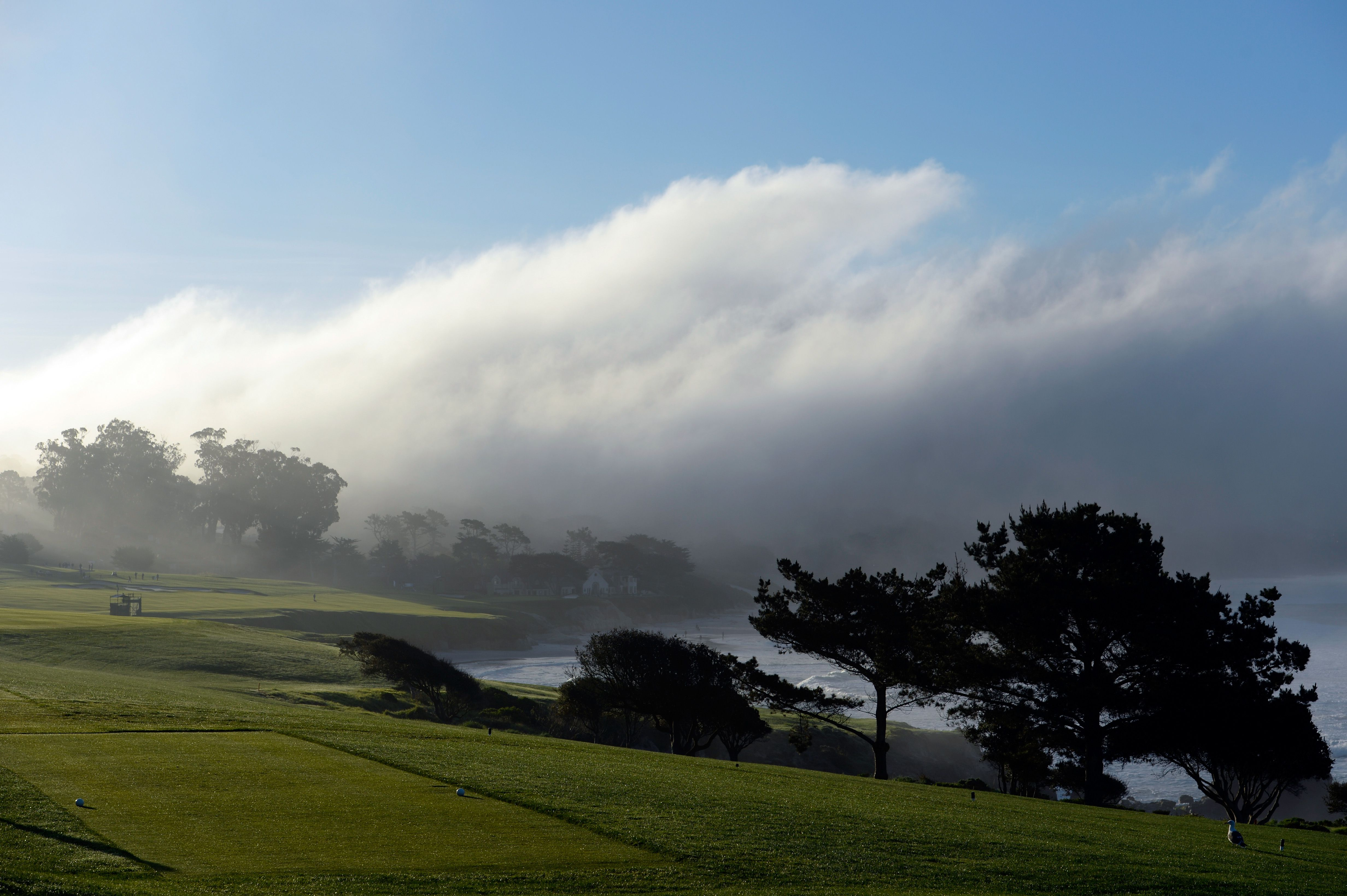 A general view of Hole No. 4 at Pebble Beach.