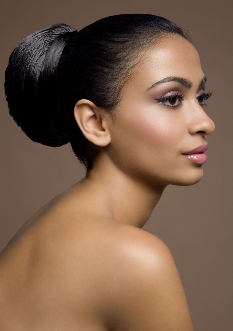 Portrait of woman with darker skin