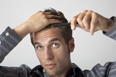 how to get a cowlick out of your hair