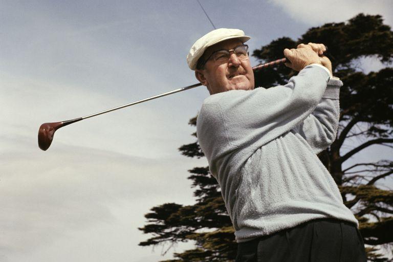 Golfer Bobby Locke photographed in 1964.