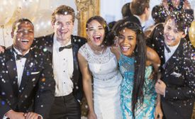 teenagers dressed up at prom